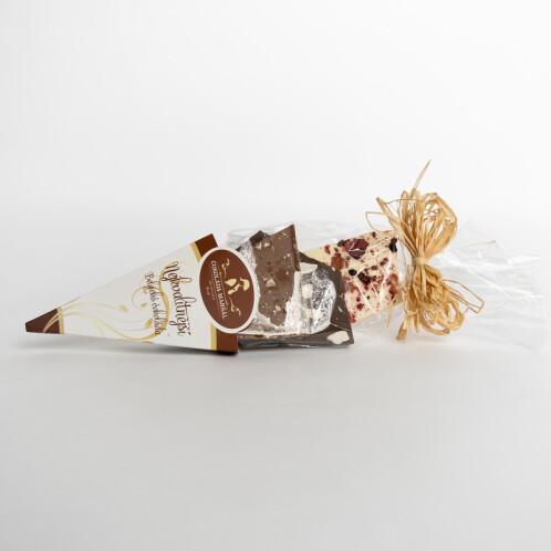Levně Lámaná čokoláda mix kornout 150 g